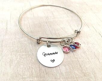 Grandma Birthstone Bracelet - Grandma Gift - Birthstone Bracelet - Grandma Bracelet - Christmas Gift for Grandma