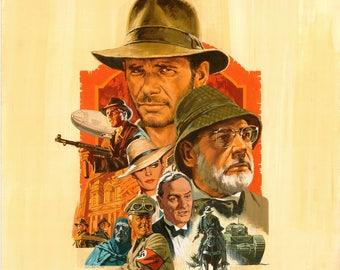 Indiana Jones Poster, The Last Crusade, Indiana Jones Movie Poster, Indiana Jones Art, Indiana Jones Poster, Indiana Jones Painting