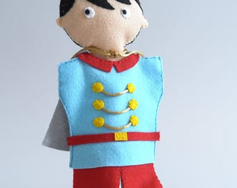 Prince - hand puppet, puppetry, puppet, fairy tale, Prince and princess -