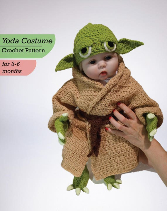 Baby Yoda Costume Crochet PDF Pattern Star Wars Costume Baby