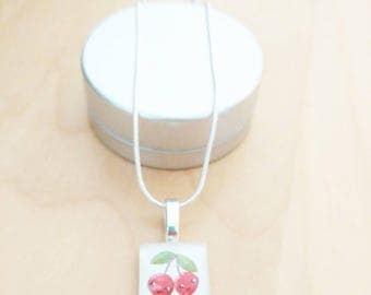 CLEARANCE! Cherry necklace