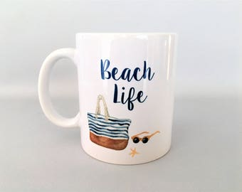 Beach Mug, Beach Mugs, Beach Lover Mug, Beach Lover Gift, Beach Please, Gift for Wife, Gift for Girlfriend, Valentines Day Gift, Beach Gift