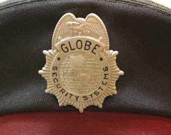 Vintage Globe Security Uniform Dress Cap With Badge Size 7