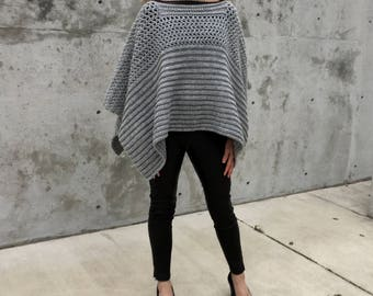 Crochet Poncho PATTERN, Shawl Pattern, Crochet Sweater, Big Crochet Wrap, Boho Poncho, Top, Crochet for Women, PDF, DIY, Garment, Ruana