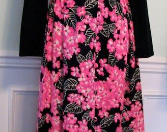1970s Dress Party Hawaiian Rhinestones Stephen OGrady Maxi Patio