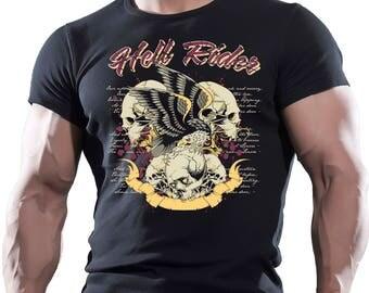 Hell Rides. Men's black cotton t-shirt