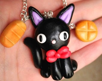 Jiji Cat Necklace Kiki's Delivery Service Studio Ghibli Kawaii