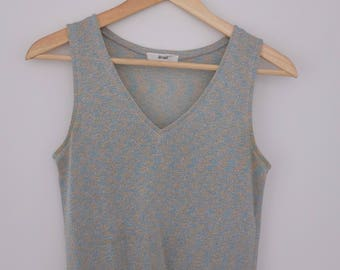 Vintage Shimmery Multicolour Tank Top