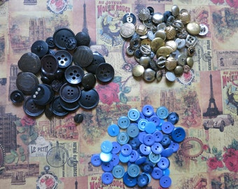 Sewing accessories, handmade accessory, craft supply, button set, button mix, vintage buttons, button assorted, vintage sewing, craft button