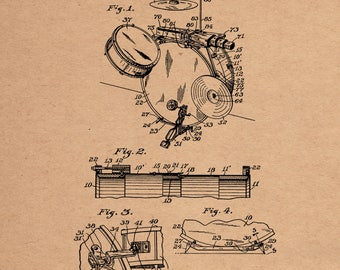Drum and Trap Combination Patent #1,456,242 dated May 22, 1923.