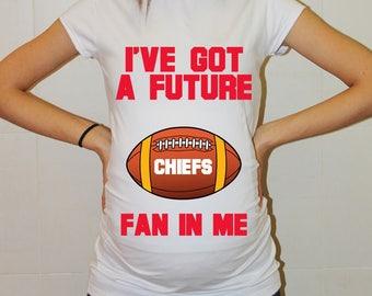 Chiefs Maternity Shirt Kansas City Chiefs Baby Shower Future Fan Shirt Baby Boy Girl Kansas City Football Maternity Clothing Pregnancy Shirt