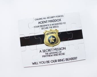 Ring Bearer Proposal Puzzle Ring Security | Will you be my Junior Groosman Childs Wedding Gift Bridal Party 010