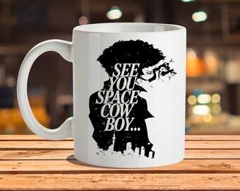 Cowboy Bebop Mug, See You Space Cowboy, Spike Spiegel, Faye Valentine, Bebop, Space Cowboy, Jet Black, Cowboy Bebop Print, Faye, Ein