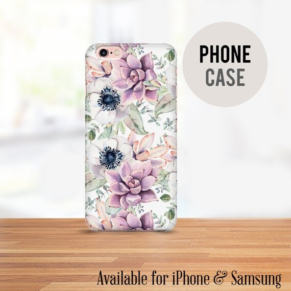 Purple Succulent Cell Phone Case - Available for iPhone and Samsung