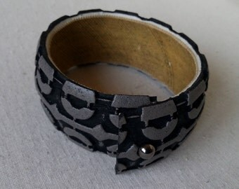 bracelet from bike tire, painted