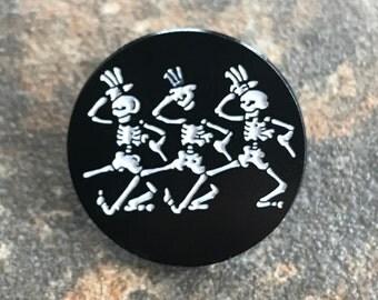 Dancing Skeleton Pin
