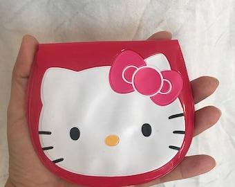 Vintage 1997 Sanrio Hello Kitty pouch / card organizer case / Plastic card bag