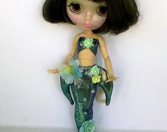 Blythe dress, Blythe clothes, Blythe outfit, Blythe dress siren, Blythe mermaid