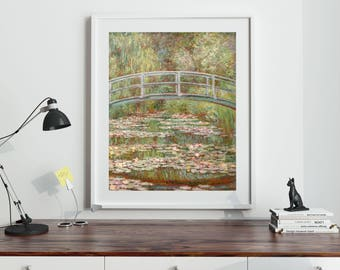 Bridge Over a Pond of Water Lilies Claude Monet 1899 Impressionist Art Classic Art Impressionism French Art
