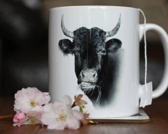 COW MUG - Gemma Hayward Art Tea Coffee Animal lovers cup Farmyard