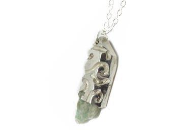 Contemporary Art Jewellery Amazonite Pendant, Alternative, Bespoke, Jewellery, Sculpture, Unisex
