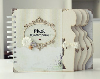 Personalized Week by week Pregnancy Journal Baby Pregnancy diary Pregnancy album Mom to be journal Expecting baby diary Baby Shower Gift
