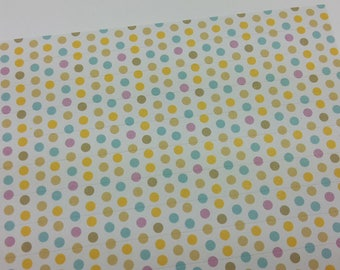 1 embroidery sheet of stickers with multicolor dots print rectangle stickers - scrapbooking and embellishment - beige