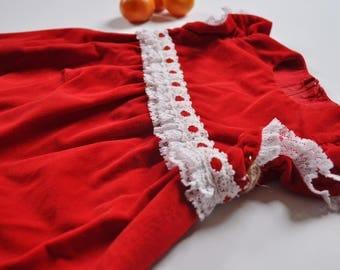 Vintage Red Velveteen Christmas Dress