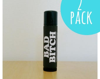Bad Bitch Vegan Lip Balm Gift Set -  Vegan Lip Balm - Double Pack - Christmas Gift Set - Holiday  Gift Ideas by Etta Arlene
