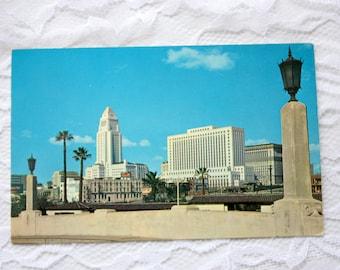 Los Angeles Postcard, California Postcard, Los Angeles Civic Center Skyline