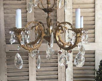 antique crystal chandelier vintage chandelier crystal chandelier brass chandelier french lighting