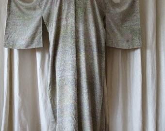 Vintage 1930's Silk Crepe Kimono