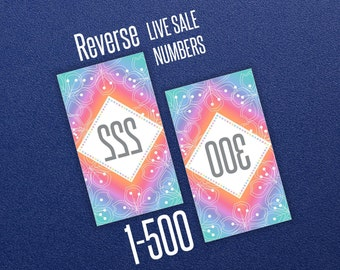Live Sale Numbers - Reverse 1-500 * LLR Home Office Approved Fonts & Colors * 8.5x11 * DIY Print * Facebook Live Sale * Rainbow Design