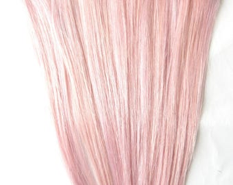 Pastel Pink Human Hair Extensions, Clip In Hair Extensions, Remy Hair Extensions, Pink Hair Extensions, Cotton Candy Pink Hair, Baby Pink