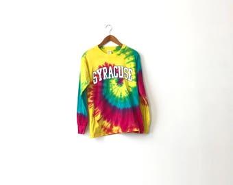 Bright 90s Tie Dye Syracuse Shirt - S