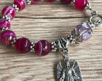 Rosary Bracelet With Archangel Chamuel Charm