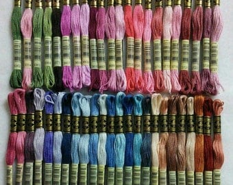 2 DMC, 3354-3778, Embroidery, thread, DMC, Mouliné 25, art 117 No. 25, 8 meters each skein, cotton. Kit 2, liquidation