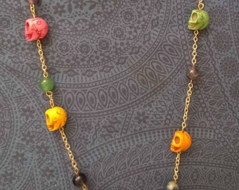 Día de los Muertos Skull necklace