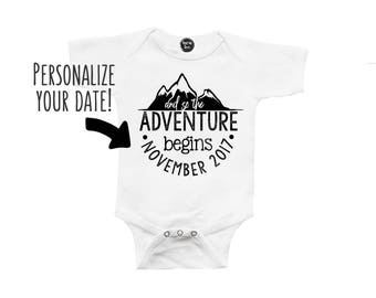 And so the Adventure Begins - Baby Announcement - Photo Shoot - Pregnancy Announcement - Creative Baby Announcements - Personalized
