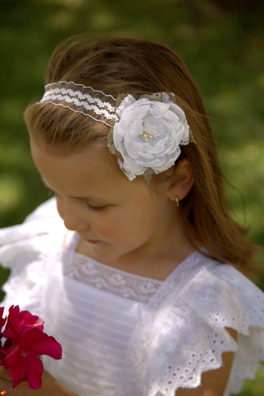 Salebaby Headbandwhite Flower Headbandwedding Baby Headbandgirl