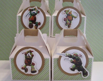 Ninja Turtle Favor Boxes Party