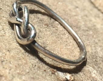 Silver Figure Eight Knot Ring