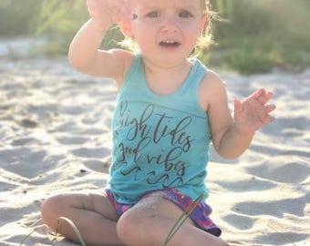 High tides , good vibes , beach , salty , resting beach face , beach please , salty babe , baby racerback , toddler racerback ,