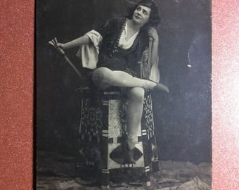 Original! Antique Imperial Russia photo postcard Edit. Fisher 1912 GELCER prima ballerina KORSAR Russian ballet Tsarist Russia