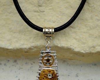 "Original Steampunk man ""Amuletum"" necklace"