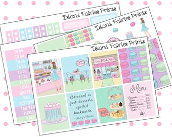 Original Sugar Regular Weekly Planner Kit Bakery