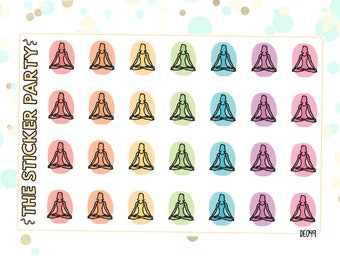 Meditation and Yoga Planner Stickers