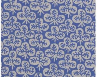 Kaffe Fassett Clover Blue GP73, Cotton Woven Fabric, 1/2 yd