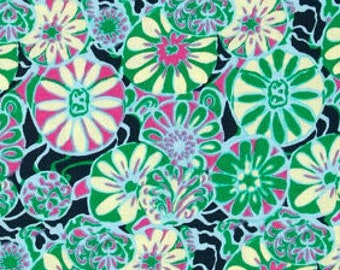 Amy Butler True Colors Daisy Shine in Lake; 1/2 yard;  woven cotton fabric