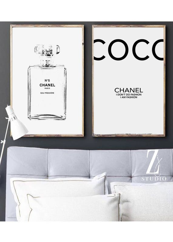 Chanel art printed Large Chanel wall art coco Chanel poster